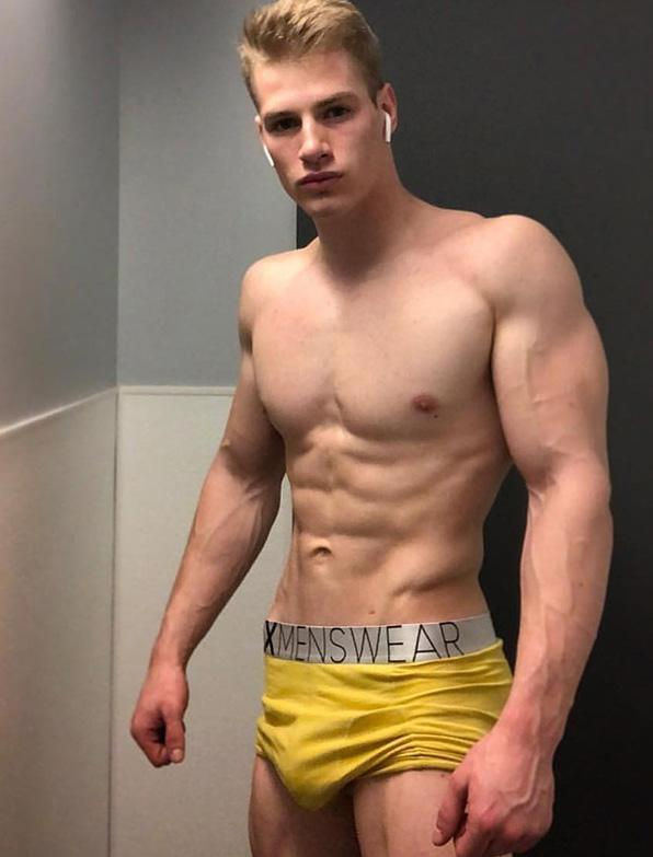 Patrick Leblanc Scary Canary Yellow Bulge boxer shorts briefs