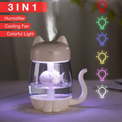 3 in 1 Cat Shaped Air Humidifier - Luv I said Pet