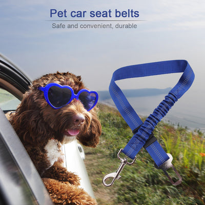 Shock Absorbing Dog Safety Seat Belt