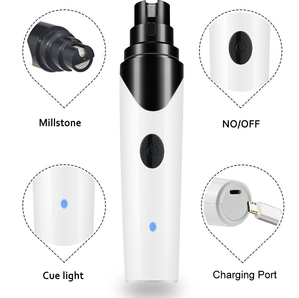 USB Rechargeable Electric Pet Nail Grinders