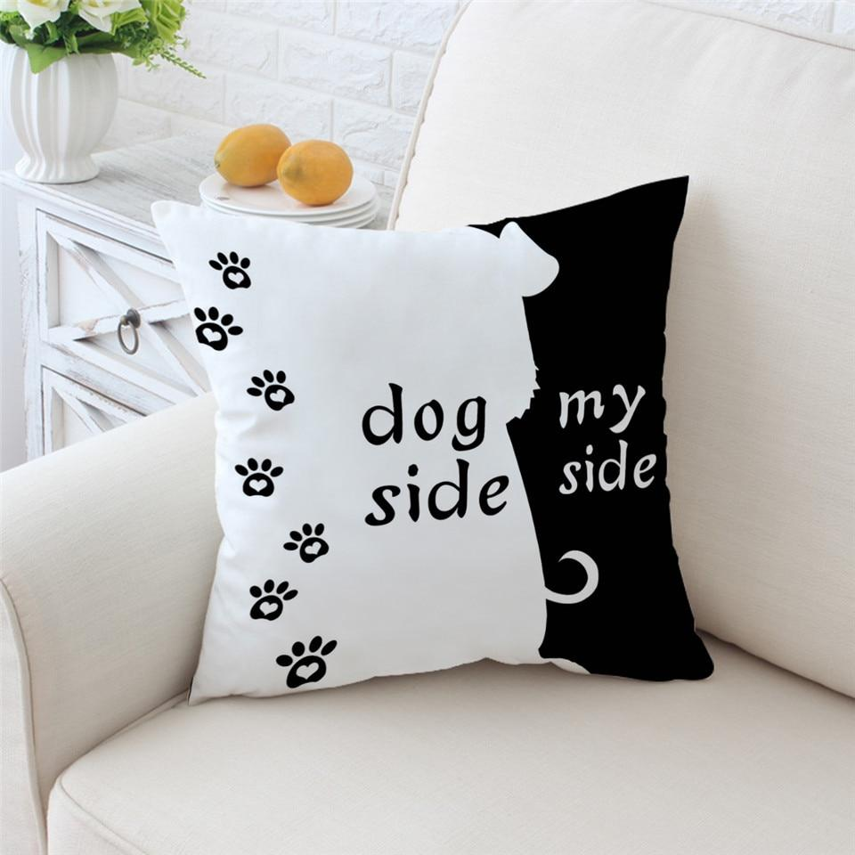 Dog Side My Side Cushion Cover