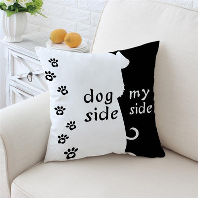 Dog Side My Side Cushion Cover - Luv I said Pet