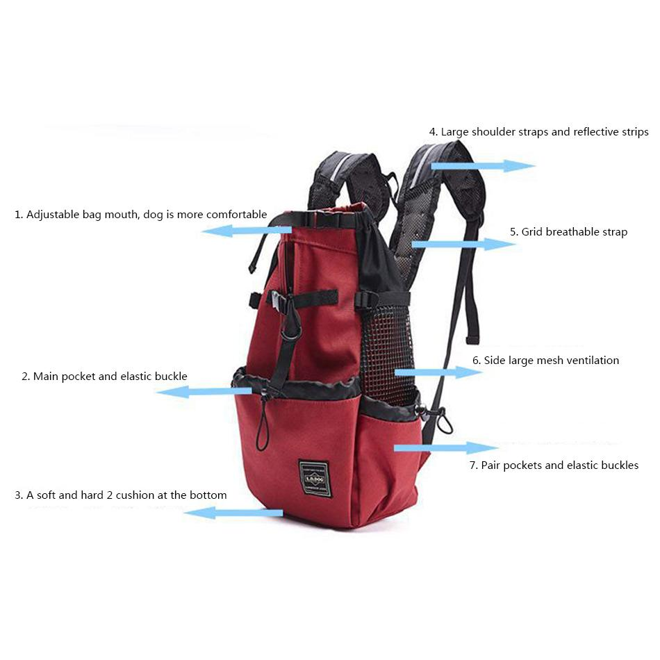 Backpack Carrier for Medium & Large Dogs - Luv I said Pet