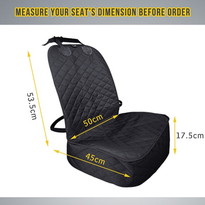 Front Seat Cover for Cars, Trucks and SUV's - 100% Waterproof