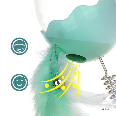 LED Elastic Feather Cat Treat Toy