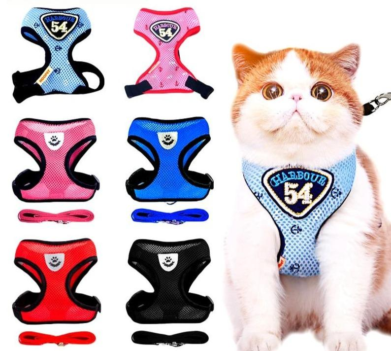 Cute Cat Harness and Lead Set