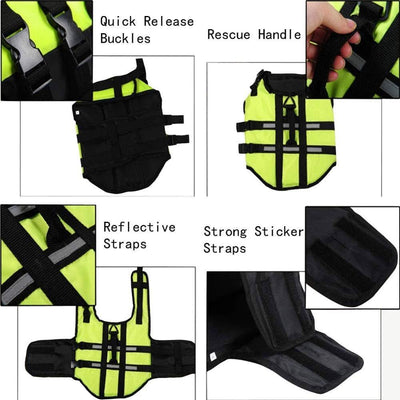 Dog Life Jacket - Safety Reflective Vest - Luv I said Pet