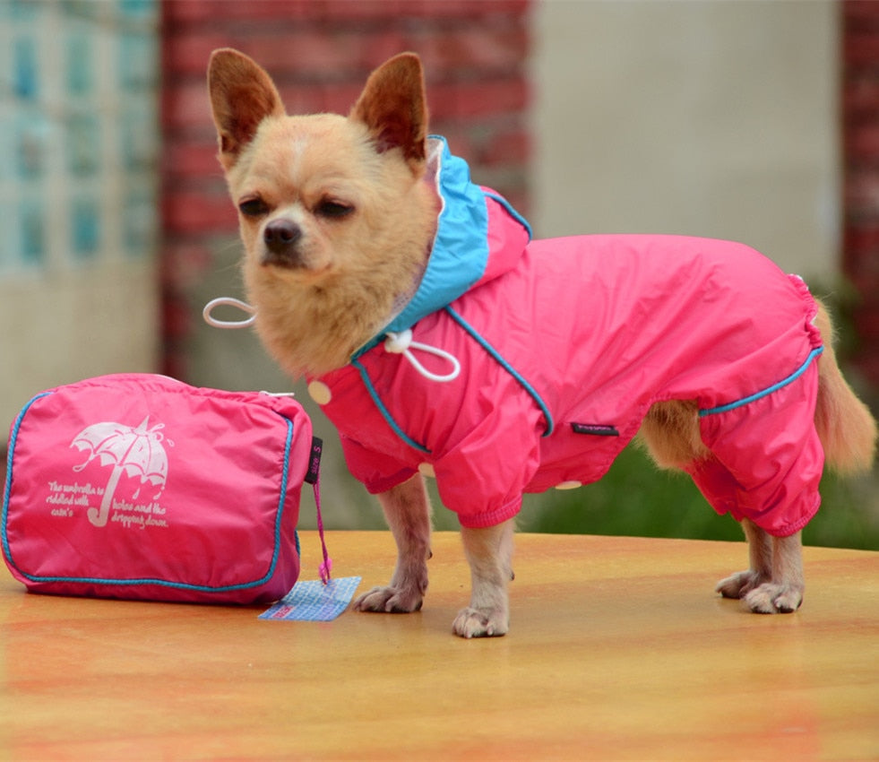 Waterproof Hoody Jacket Rain Coat for small dogs