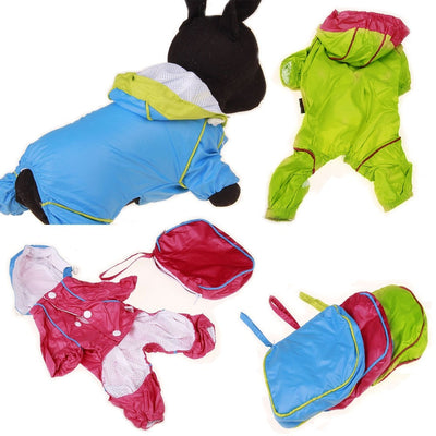 Warm Hoody Jacket waterproof Rain Coat for small dogs