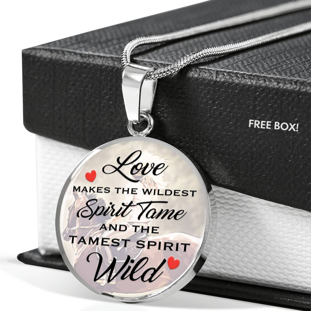Love Spirit Wild - Round Pendant Necklace