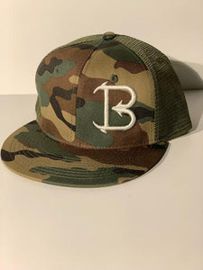 Big'N Fishing OD CAMO PUFF EMBROIDERED LOGO Flatbill snapback