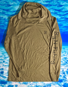 Miltary Green longsleeve hooded Shirt