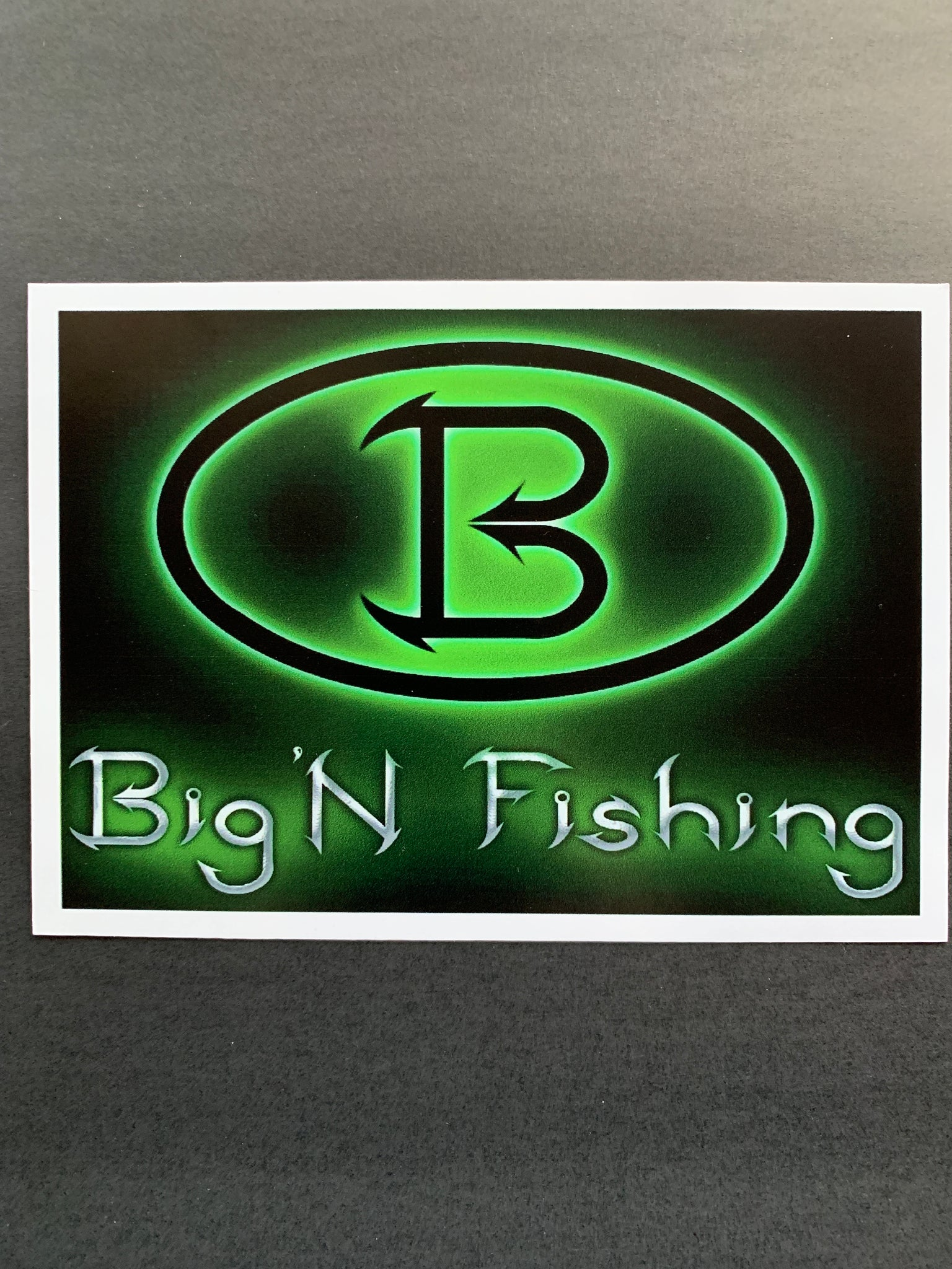 5x7 Big'N Fishing Sticker Decal