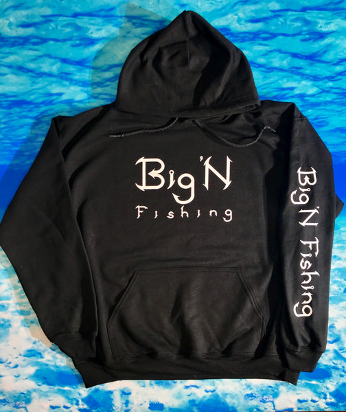 Black Big'N Fishing Mens Hoodie