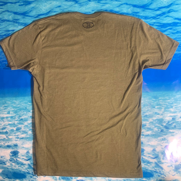 Military Green Big'N Fishing Shortl Sleeve