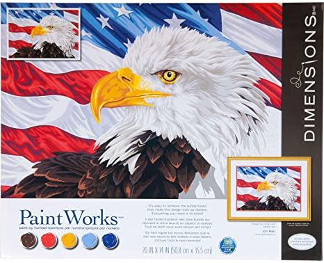 DIM7391728 BALD EAGLE PAINT BY NUMBER