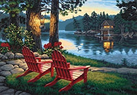 DIM91357 ADIRONDACK EVENING PAINT BY NUMBER