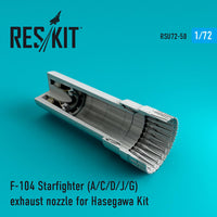 RSU7258 1/72 F-104 STARFIGHTER A/C/D/J/G EXHAUST (RESIN)