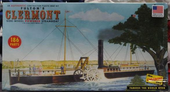 LINHL200 1/96 FULTON'S CLAREMONT SIDE-WHEEL STEAMER