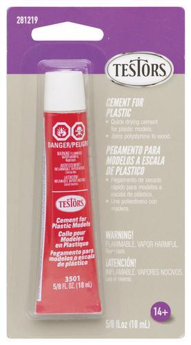 TES281219 TESTORS CEMENT FOR PLASTIC, CARDED