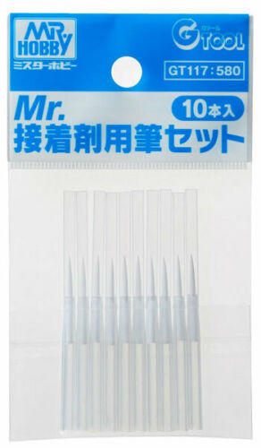 GT117 Mr Hobby Fine Brush Set for Mr. Cement Square Bottles