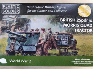 WW2GI5005 1/100 BR 25 PDR & MORRIS QUAD TRACTOR