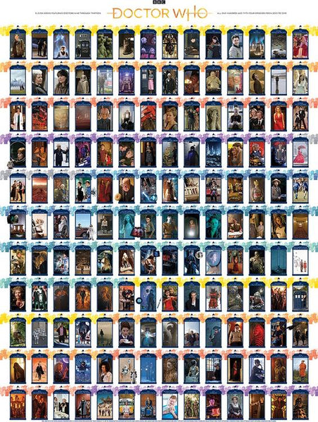 COB80227 DOCTOR WHO EPISODE GUIDE 1000 PIECE PUZZLE