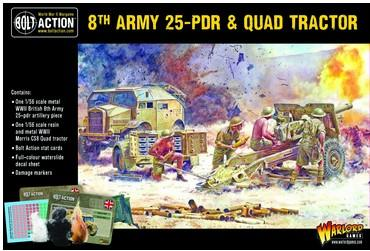 WG402211001 8th ARMY 25-PDR & QUAD TRACTOR