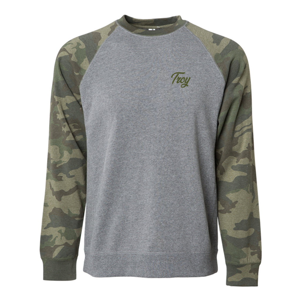 TROY SIMPLE SCRIPT CREWNECK CAMO
