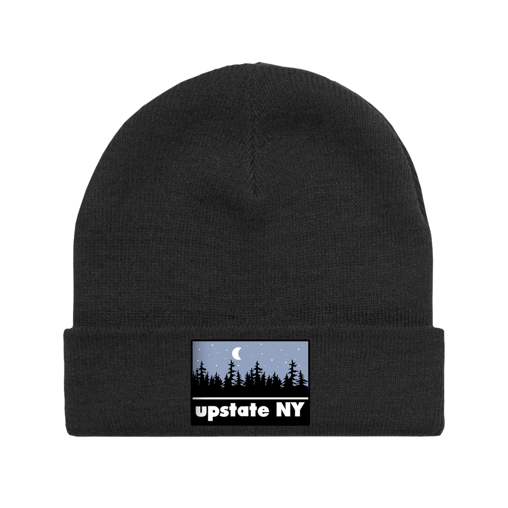 UPSTATE NIGHT PATCH BEANIE BLACK