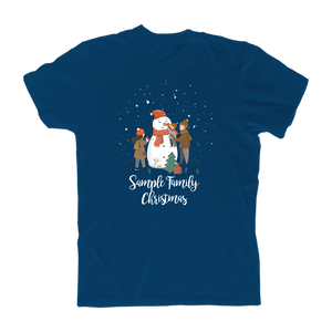Personalized Family Snowman Tee Blue