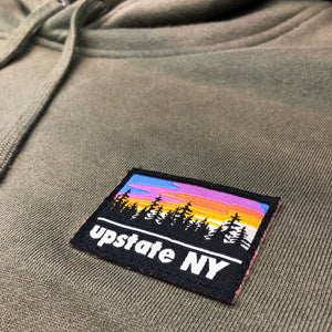 UPSTATE PATCH PULL HOOD ARMY