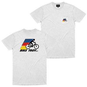BIKE TROY POCKET TEE WHITE