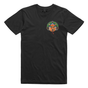 Show off your inner tiger with our original design Mandala Tiger tee! Printed in vibrant multicolor on the front and back of a black tee.  Only Found at 518 Prints