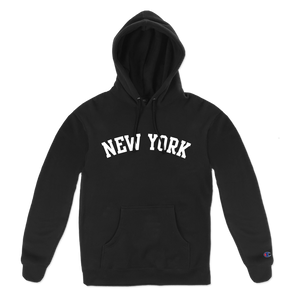 NEW YORK ARCH PULL HOOD BLACK