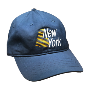 Dad hats - not just for dads anymore! Show your state pride in our New York Dad Hat. Comes in black or harbor blue.  Only Found at 518 Prints