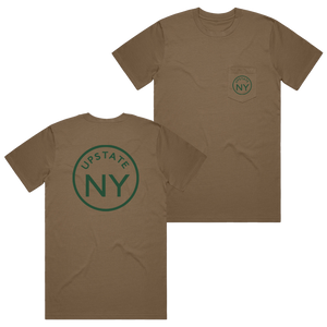UPSTATE CIRCLE POCKET TEE DARK KHAKI