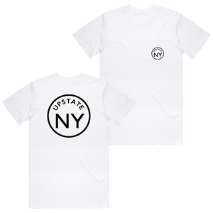 UPSTATE CIRCLE POCKET TEE WHITE