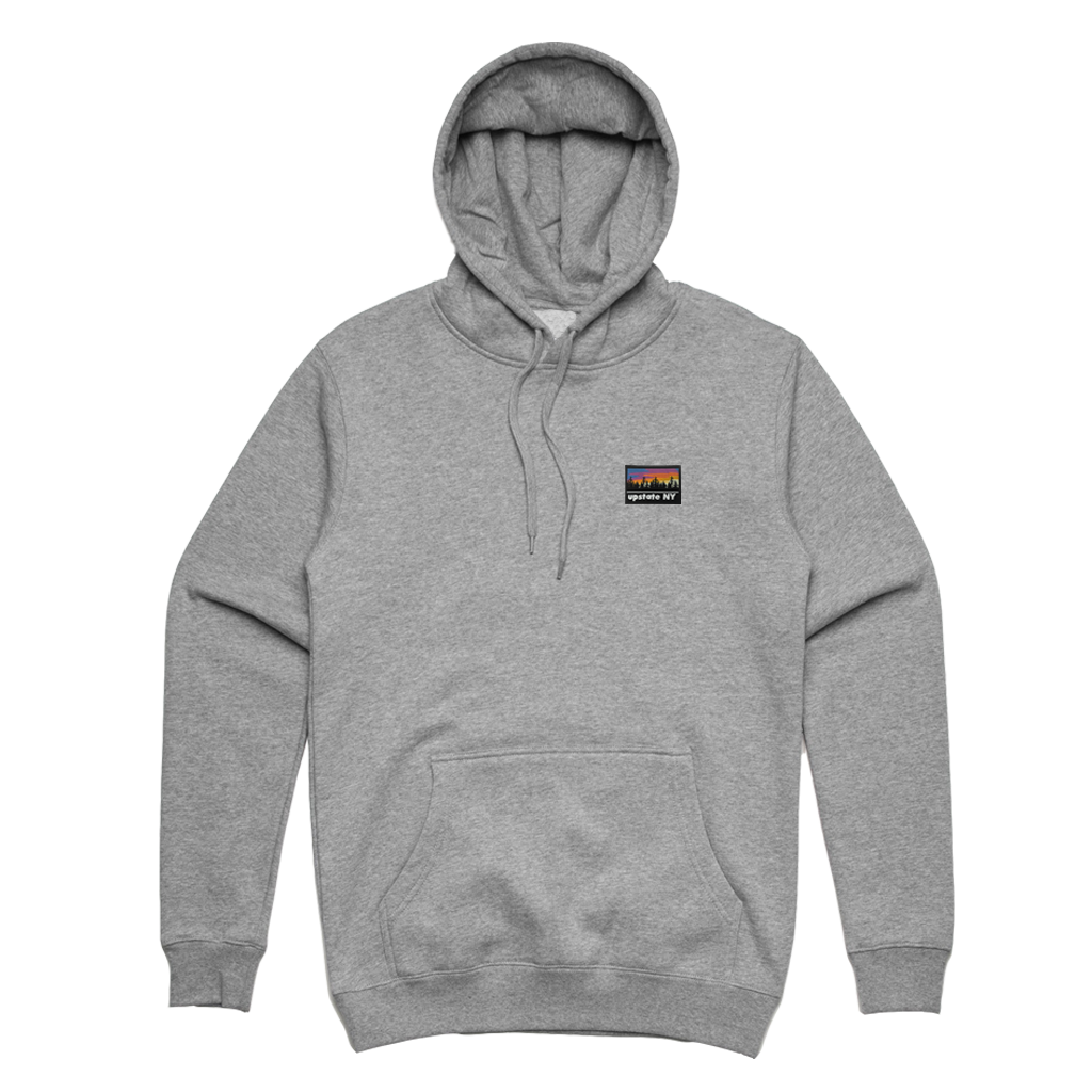 UPSTATE PATCH PULL HOOD ATHLETIC HEATHER