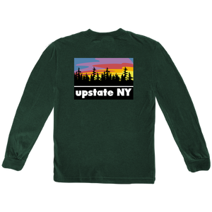 518 PRINTS UPSTATE PRINT LONGSLEEVE HEATHER GREEN