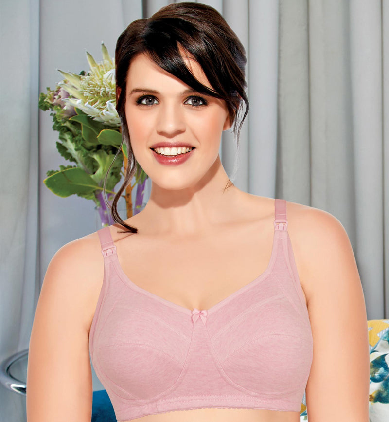 2f4e6f696abdb Enamor High Coverage Nursing Bra - Side Support • Non-Padded • Wirefree -  Orchid Melange
