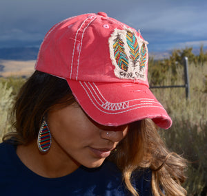 Free Spirit Feather Ball Cap