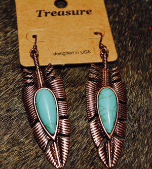 Western Feather Earrings
