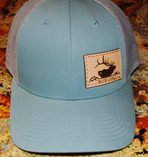 Smoke Blue/ Aluminum Trucker Snapback Hat