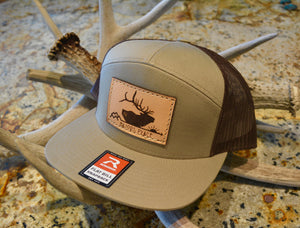 7 Panel Khaki/Brown Snapback Hat