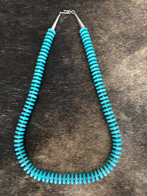 Antique Navajo Turquoise Bead Necklace