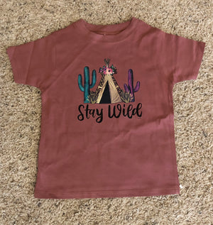 Stay Wild Cactus Tippee Toddler Tee