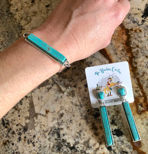 Turquoise Bar Jewelry Set