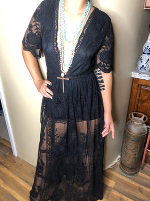 Lace Dress with built-in slip