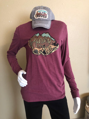 Maroon Ranchy Long Sleeve